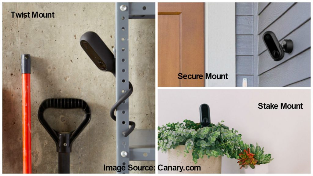 Optional mounts for Canary Flex security cam